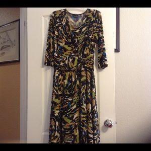 Multi color dress.